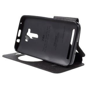 Peněženkové pouzdro s okýnkem na Asus Zenfone Selfie ZD551KL - černé - 4