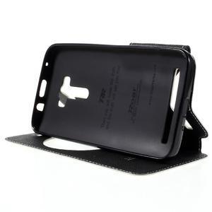 Peněženkové pouzdro s okýnkem na Asus Zenfone Selfie ZD551KL - bílé - 4