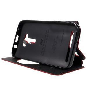 Peněženkové pouzdro s okýnkem na Asus Zenfone Selfie ZD551KL - červené - 4
