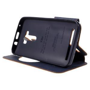 Peněženkové pouzdro s okýnkem na Asus Zenfone Selfie ZD551KL - oranžové - 4