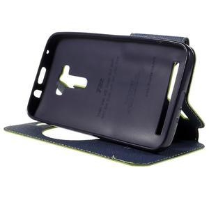Peněženkové pouzdro s okýnkem na Asus Zenfone Selfie ZD551KL - zelené - 4