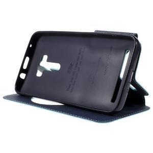 Peněženkové pouzdro s okýnkem na Asus Zenfone Selfie ZD551KL - světlemodré - 4