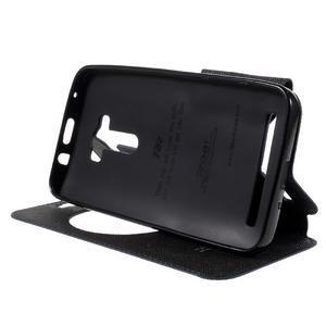 Peněženkové pouzdro s okýnkem na Asus Zenfone Selfie ZD551KL - tmavěmodré - 4