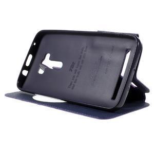 Peněženkové pouzdro s okýnkem na Asus Zenfone Selfie ZD551KL - fialové - 4