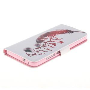 Peněženkové pouzdro pro mobil Honor 5X - ptačí peříčko - 4