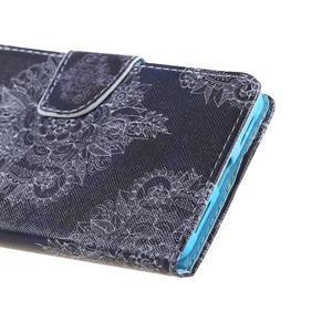 Knížkové pouzdro na mobil Honor 5X - retro krajka - 4