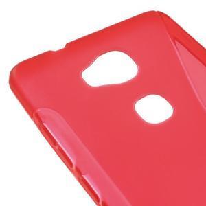 S-line gelový obal na mobil Honor 5X - červený - 4