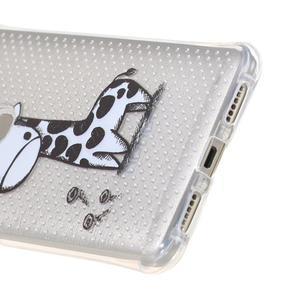 Transparentní gelový obal na Honor 5X - žirafka - 4