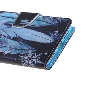 Knížkové pouzdro na mobil Honor 5X - peříčka - 4