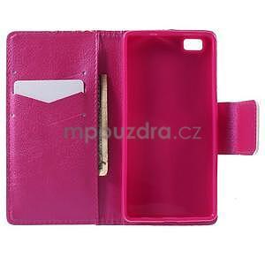 Peněženkové PU kožené pouzdro na Huawei Ascend P8 Lite - srdce - 4