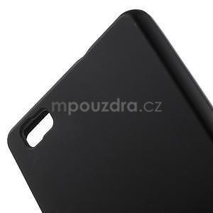Černý matný gelový obal pro Huawei Ascend P8 Lite - 4