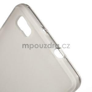 Šedý matný gelový obal pro Huawei Ascend P8 Lite - 4