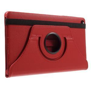 Otočné polohovatelné pouzdro na Huawei MediaPad M2 - červené - 4