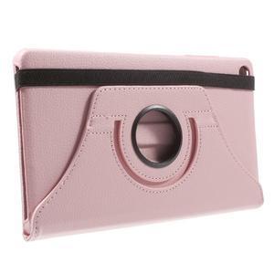 Otočné polohovatelné pouzdro na Huawei MediaPad M2 - růžové - 4