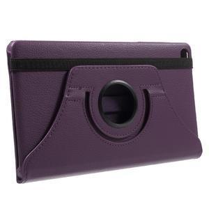 Otočné polohovatelné pouzdro na Huawei MediaPad M2 - fialové - 4