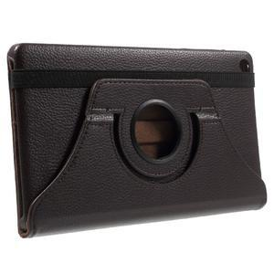 Otočné polohovatelné pouzdro na Huawei MediaPad M2 - tmavěhnědé - 4