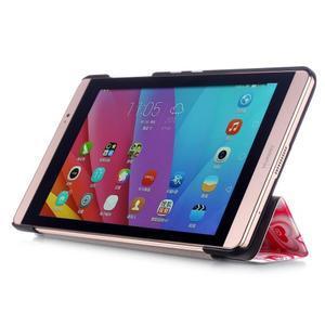 Třípolohové pouzdro na tablet Huawei MediaPad M2 8.0 - srdíčka - 4