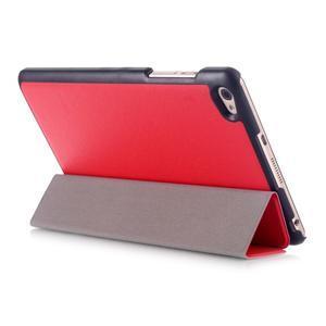 Trifold polohovatelné pouzdro na tablet Huawei MediaPad M2 8.0 - červené - 4