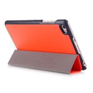 Trifold polohovatelné pouzdro na tablet Huawei MediaPad M2 8.0 - oranžové - 4