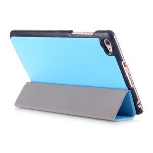 Trifold polohovatelné pouzdro na tablet Huawei MediaPad M2 8.0 - světlemodré - 4
