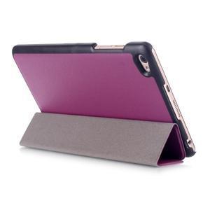 Trifold polohovatelné pouzdro na tablet Huawei MediaPad M2 8.0 - fialové - 4