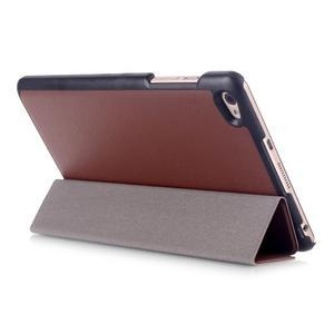 Trifold polohovatelné pouzdro na tablet Huawei MediaPad M2 8.0 - hnědé - 4