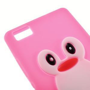 Tučňák silikonový obal na mobil Huawei P8 Lite - rose - 4
