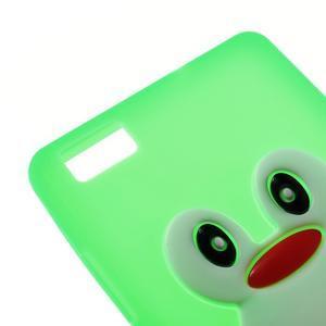 Tučňák silikonový obal na mobil Huawei P8 Lite - zelený - 4