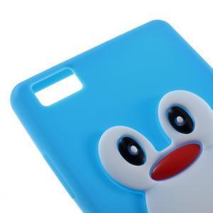 Tučňák silikonový obal na mobil Huawei P8 Lite - modrý - 4
