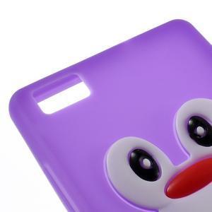 Tučňák silikonový obal na mobil Huawei P8 Lite - fialový - 4