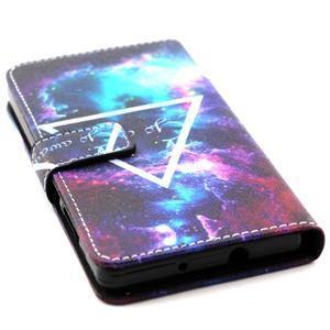 Standy peněženkové pouzdro na Huawei P8 Lite - triangle - 4