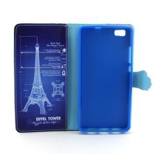 Emotive pouzdro na mobil Huawei P8 Lite - Eiffelova věž - 4
