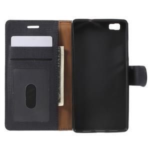 Clothy PU kožené pouzdro na mobil Huawei P8 Lite - černé - 4