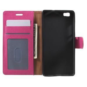 Clothy PU kožené pouzdro na mobil Huawei P8 Lite - rose - 4