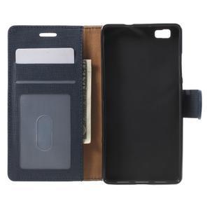 Clothy PU kožené pouzdro na mobil Huawei P8 Lite - tmavěmodré - 4