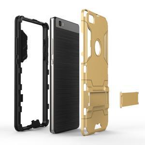 Odolný ochranný kryt na Huawei P8 Lite - stříbrný - 4
