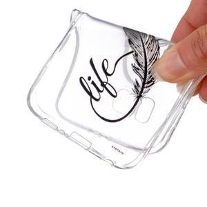 Průhledný gelový obal na Huawei P8 Lite - love - 4