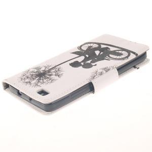 Leathy PU kožené pouzdro na Huawei P8 Lite - láska na kole - 4