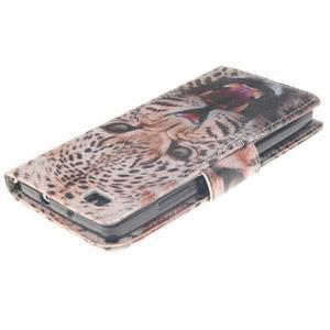 Leathy PU kožené pouzdro na Huawei P8 Lite - leopard - 4