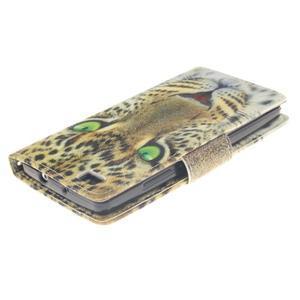 Leathy PU kožené pouzdro na Huawei P8 Lite - gepard - 4