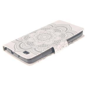 Leathy PU kožené pouzdro na Huawei P8 Lite - mandala - 4