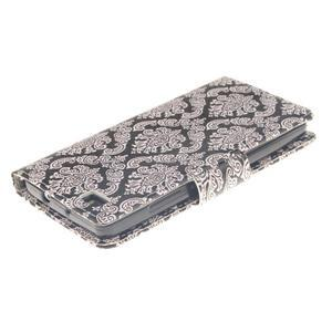 Leathy PU kožené pouzdro na Huawei P8 Lite - damask - 4