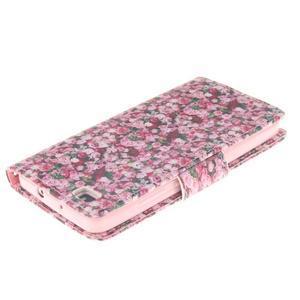 Leathy PU kožené pouzdro na Huawei P8 Lite - růže - 4