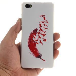 Flexi gelový obal na mobil Huawei P8 Lite - peříčko - 4