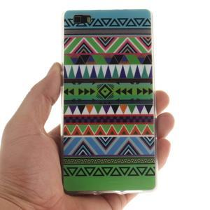 Flexi gelový obal na mobil Huawei P8 Lite - geo tvary - 4