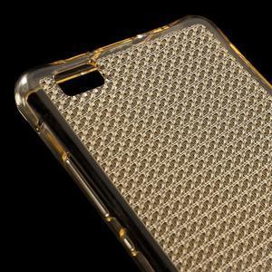 Diamonds gelový obal na Huawei P8 Lite - zlatý - 4