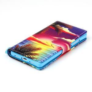 Picture PU kožené pouzdro na Huawei P8 Lite - plážová scenérie - 4