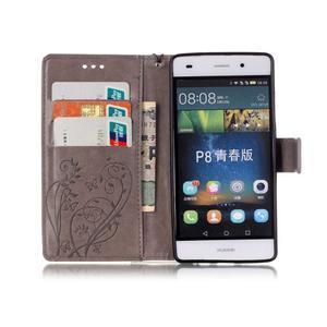 Magicfly PU kožené pouzdro na Huawei P8 Lite - šedé - 4