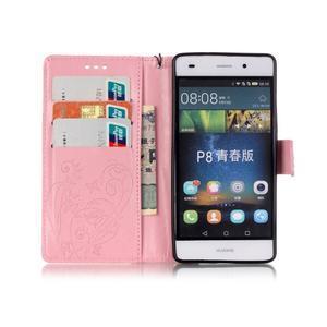 Magicfly PU kožené pouzdro na Huawei P8 Lite - růžové - 4