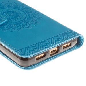 Mandala PU kožené pouzdro na mobil Huawei P8 Lite - modré - 4